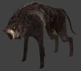 Low poly zombie dog (mod - 2)