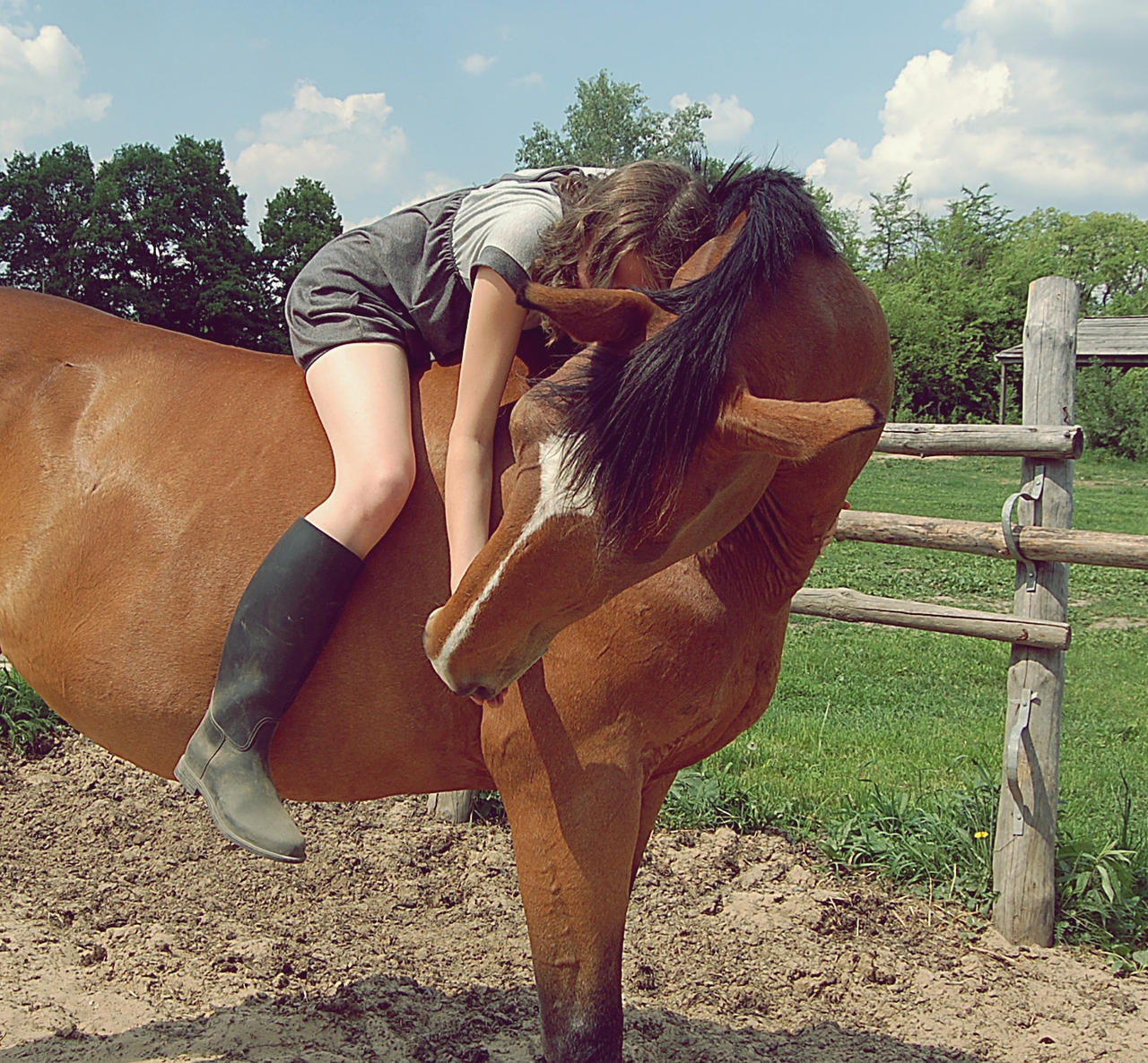 Girl and horse Nude Photos 90