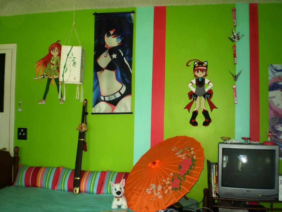 Anime themed room by sketchbookboy on deviantart for Anime themed bedroom ideas
