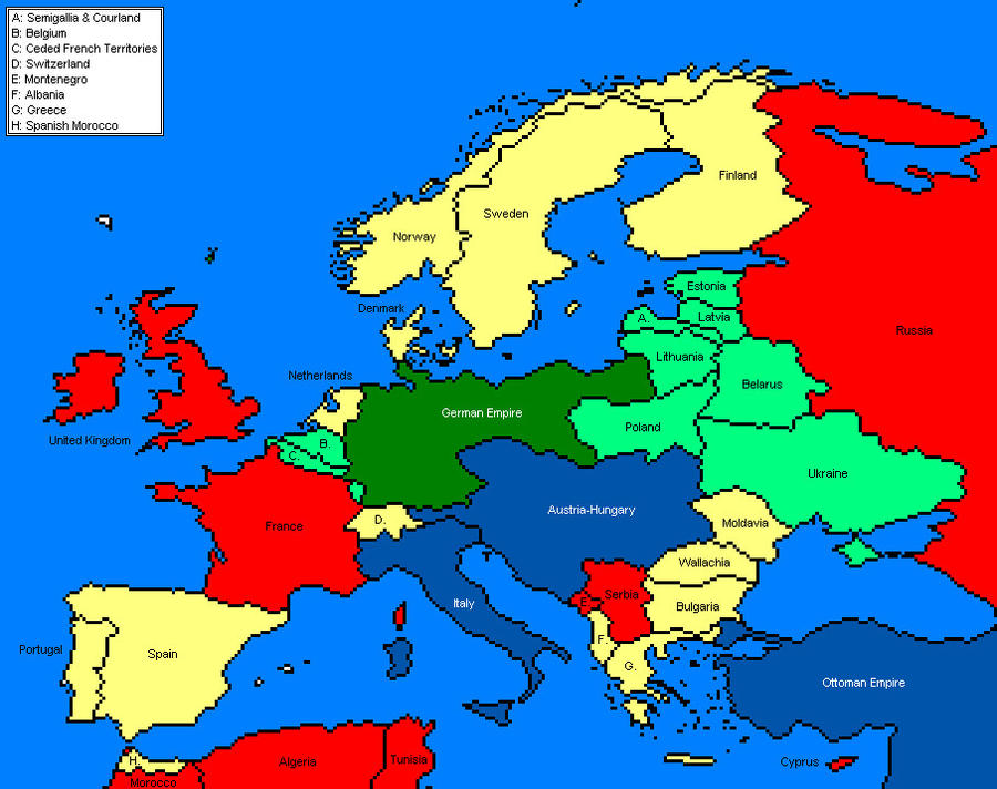 Map of europe in 9 by amcalmaron on deviantart map of europe in 9 by amcalmaron gumiabroncs Image collections