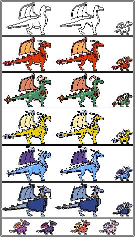 Pixel Spyro Characters