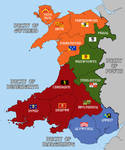 Kingdom of Wales - Alternate History Map