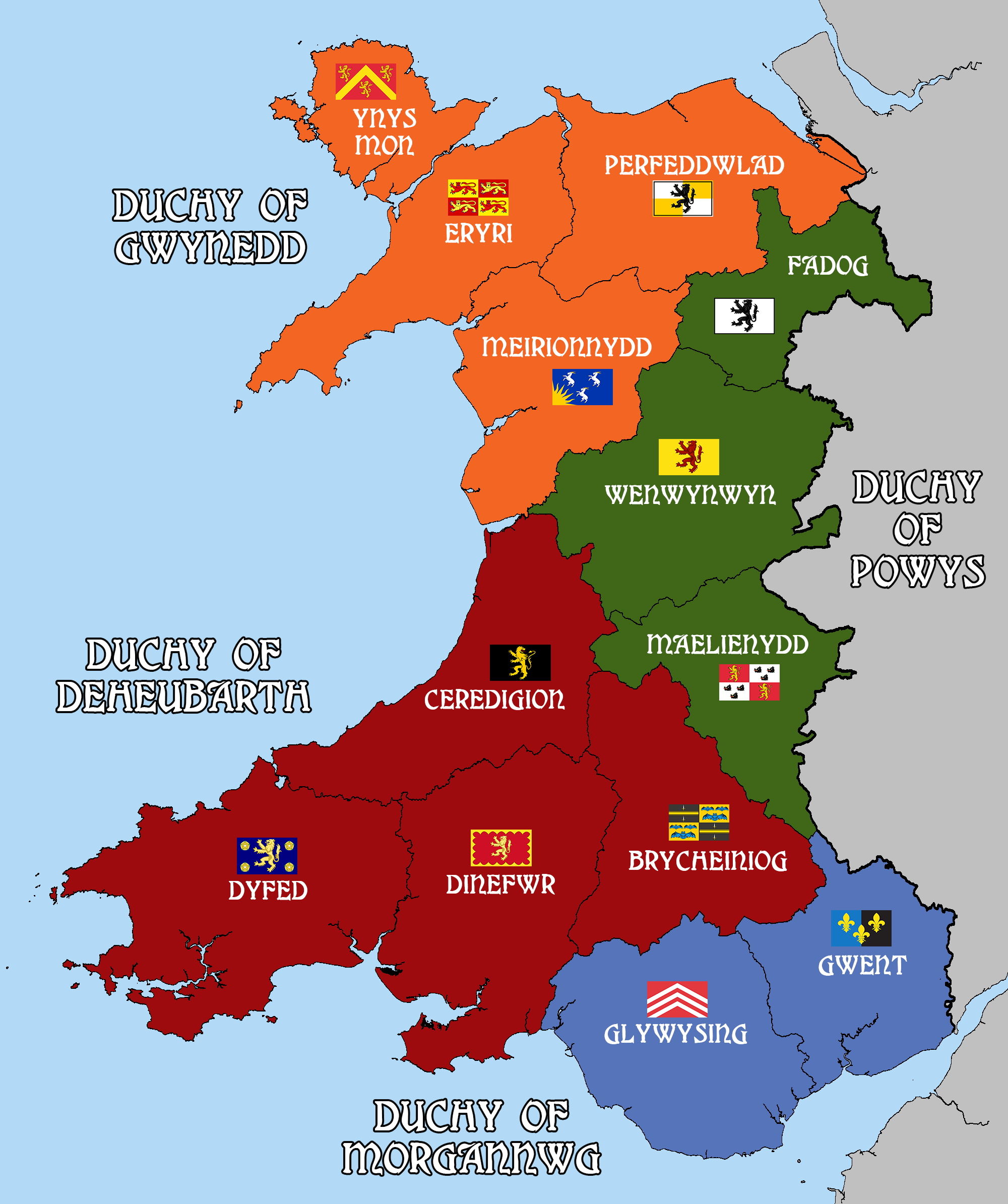 History About Wales Map