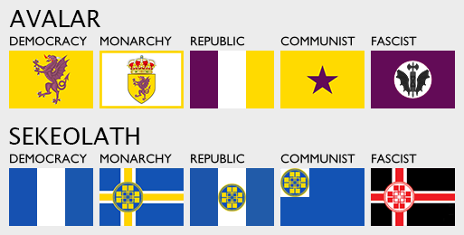 Victoria II Flags - Avalar and Sekeolath by AMCAlmaron