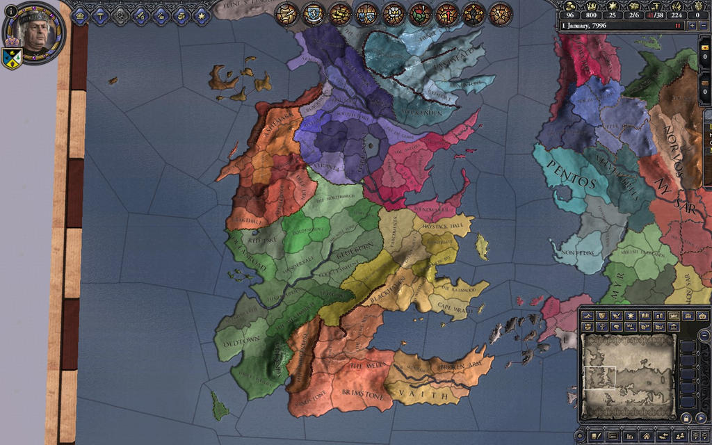 Submod - AWOIAF Adjusted Borders - The Citadel: A Game of Thrones Mod