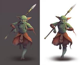Goblin Monk by wyncg
