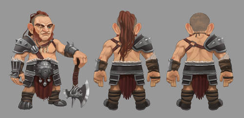 Gnome Barbarian Concept by wyncg