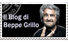 Beppe Grillo's blog Stamp by caniodica