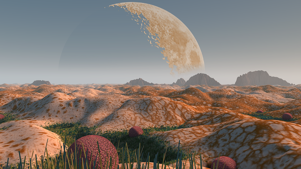 Kepler 186f - Alien Oasis II by devmoh on DeviantArt Oasis Landscape Wallpaper