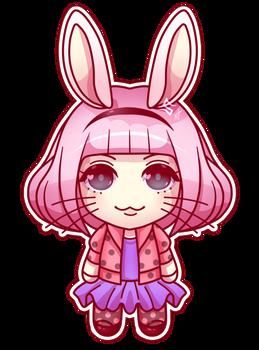 Pink Rabbit Sticker