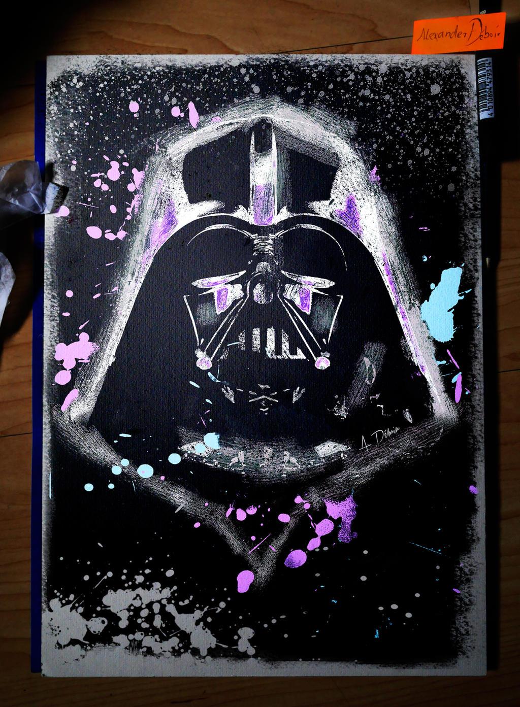 Darth Vader Grunge (Digital Painting) by Deboir on DeviantArt