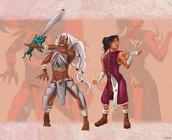 Commission: Zel and Qiel by senshuu