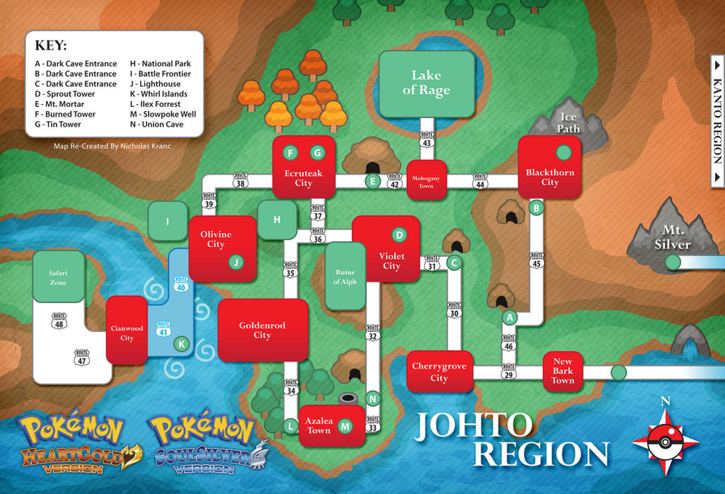 Pokemon Johto Map Hgss By Cow41087 On Deviantart