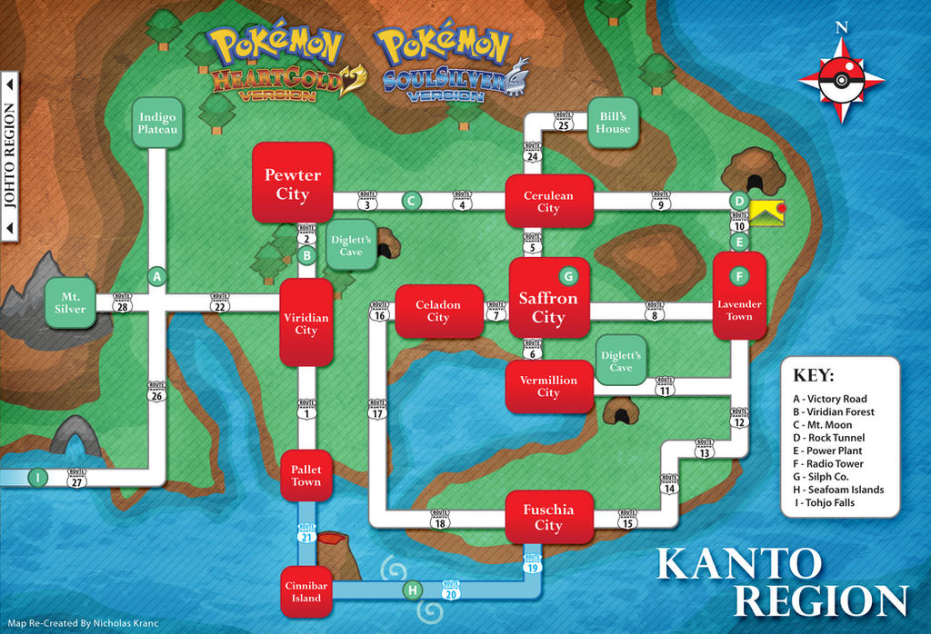 Pokemon Kanto Map Hgss By Cow41087 On Deviantart