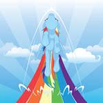 Sonic Rainboom iPad Wallpaper