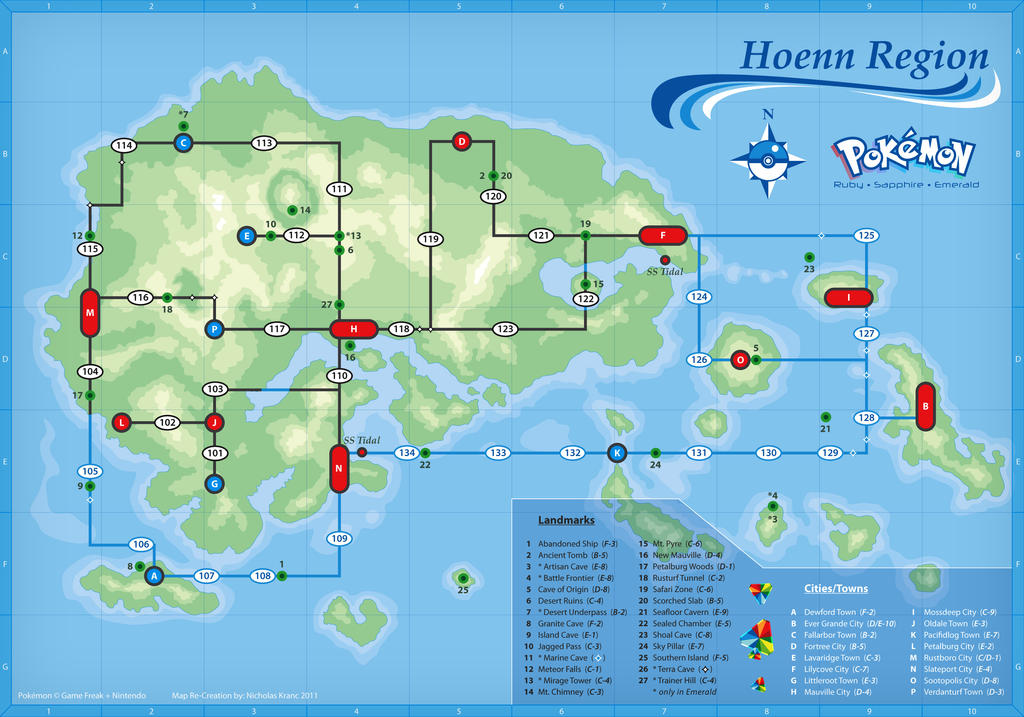hoenn map by cow41087 on deviantart