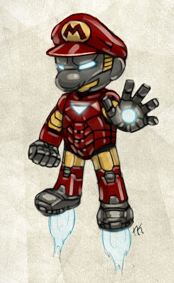 Super Iron Mario by cow41087