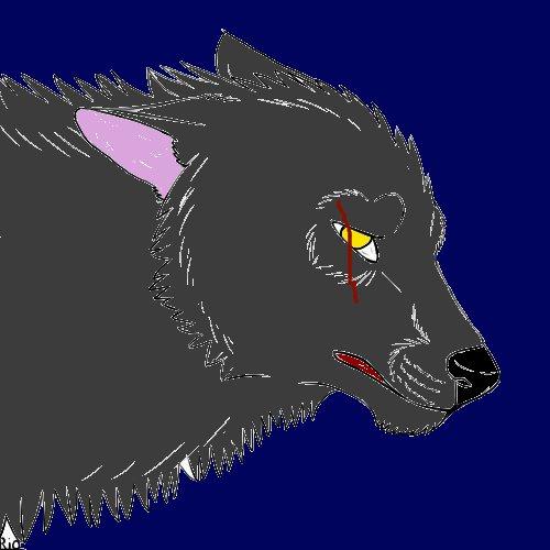 Depressed wolf drawing - photo#26