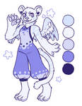 Tiger angel adoptable - OPEN