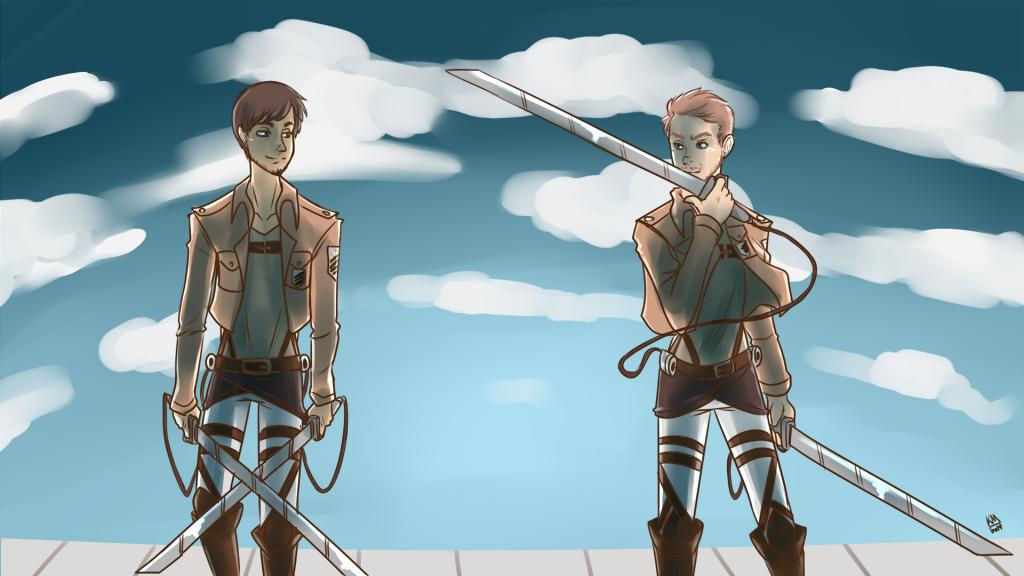 Attack On Titan Adel and Isaac by KanashiGD