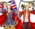 Prussia, Germany, England and America from hetalia