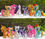 My Little Pony Main Cast Plushies plus pattern