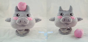 Spoink Plushie by dollphinwing