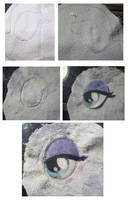 Sewing eyes on your plushie Quick Guide by dollphinwing