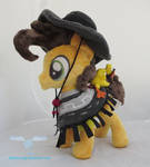 Cheese Sandwich Plush with poncho and Boneless