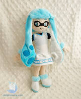 The Squid Girl Inkling Plushie by dollphinwing