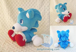 Sonic The Hedgehog Chibi Plushie by dollphinwing