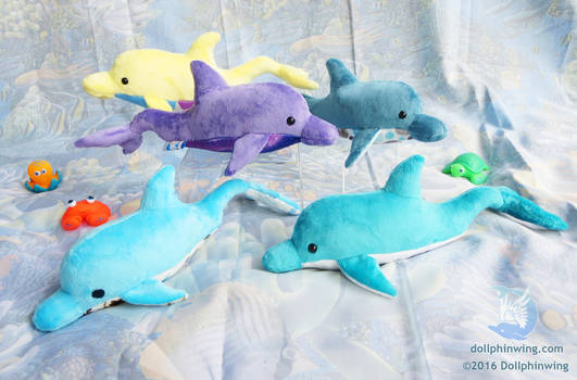 Dolphin Plushies (pattern available)