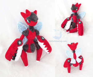 Mega Scizor Plush by dollphinwing