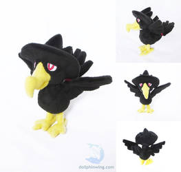 Pokemon Murkrow Plushie by dollphinwing