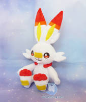 Scorbunny Plushie (Free Pattern) by dollphinwing