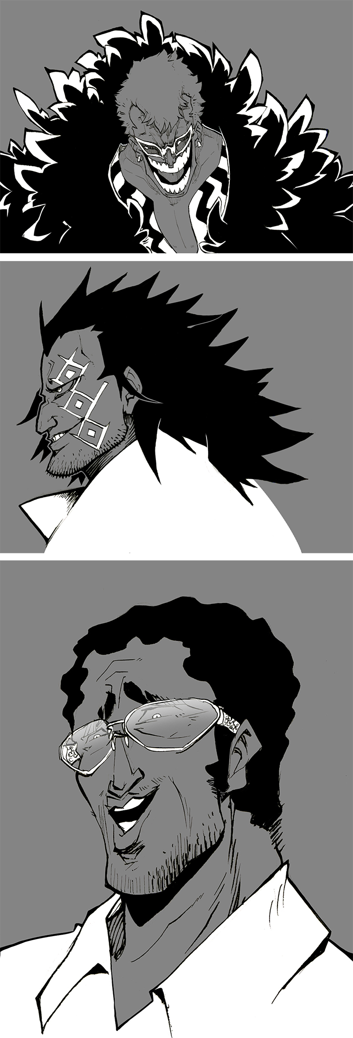 One Piece ink practice by TacosaurusRex