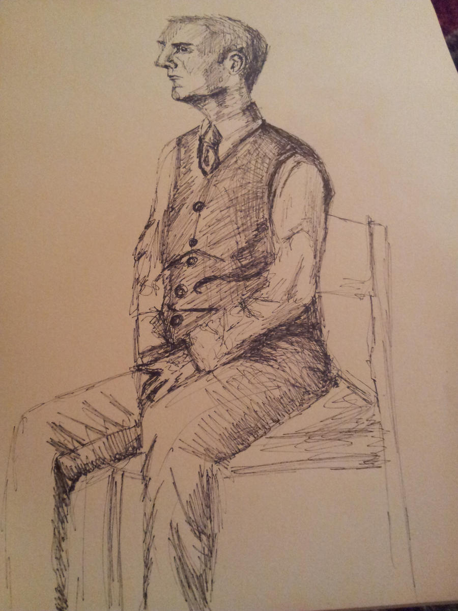 Man sitting in chair drawing -  Eternalsunshine17 Life Drawing Man Sitting On Chair By Eternalsunshine17