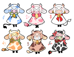 [OPEN] Little cows -OTA - Mocchin- by WiviAdopts