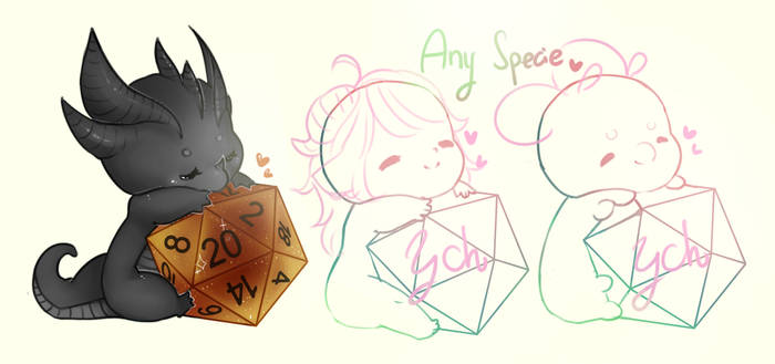 Baby dice [YCH] Any character [Open again]