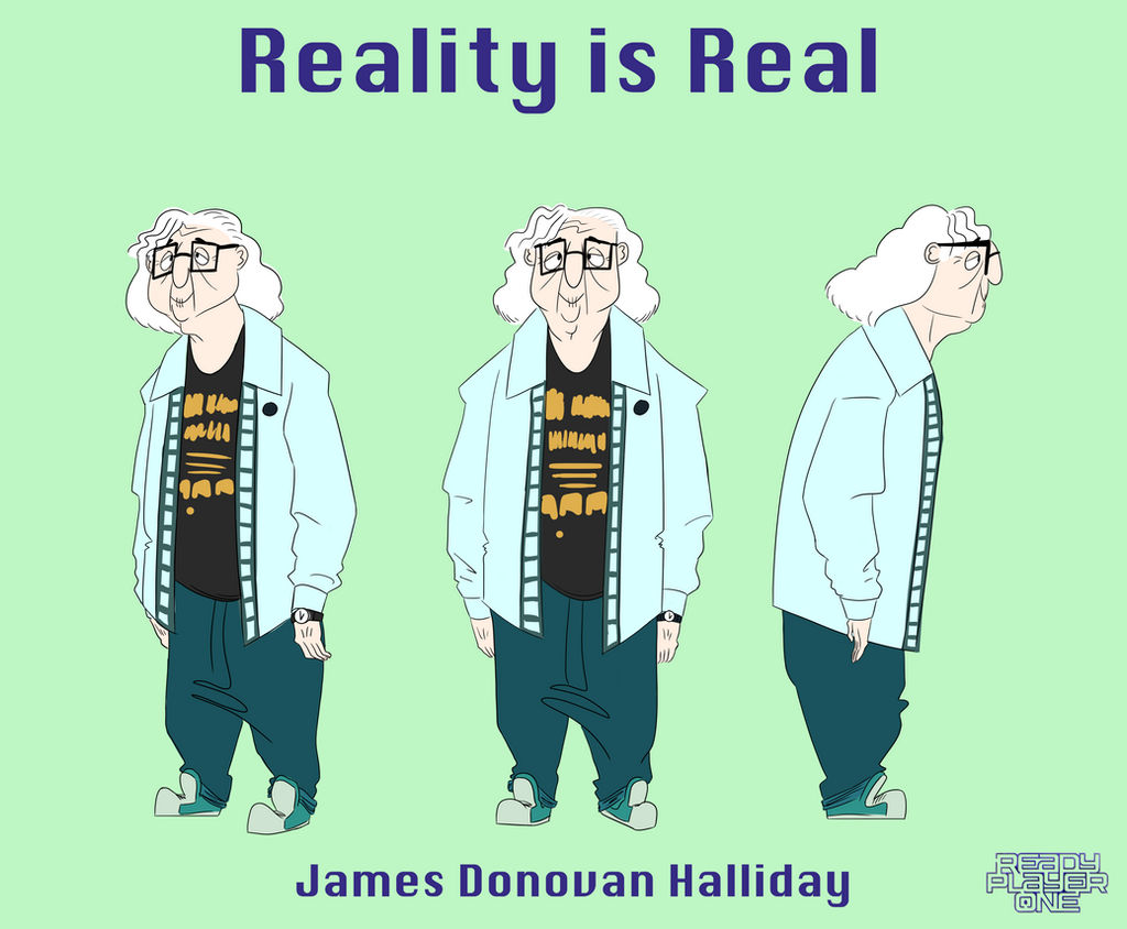 James Halliday Ready Player One Concept Art By