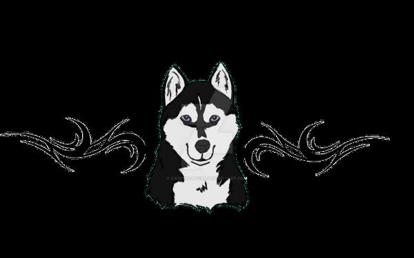 husky lower back tattoo design by caninecanvas on deviantart. Black Bedroom Furniture Sets. Home Design Ideas