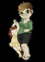 Chibi - Nadia and Shen by StyxLady