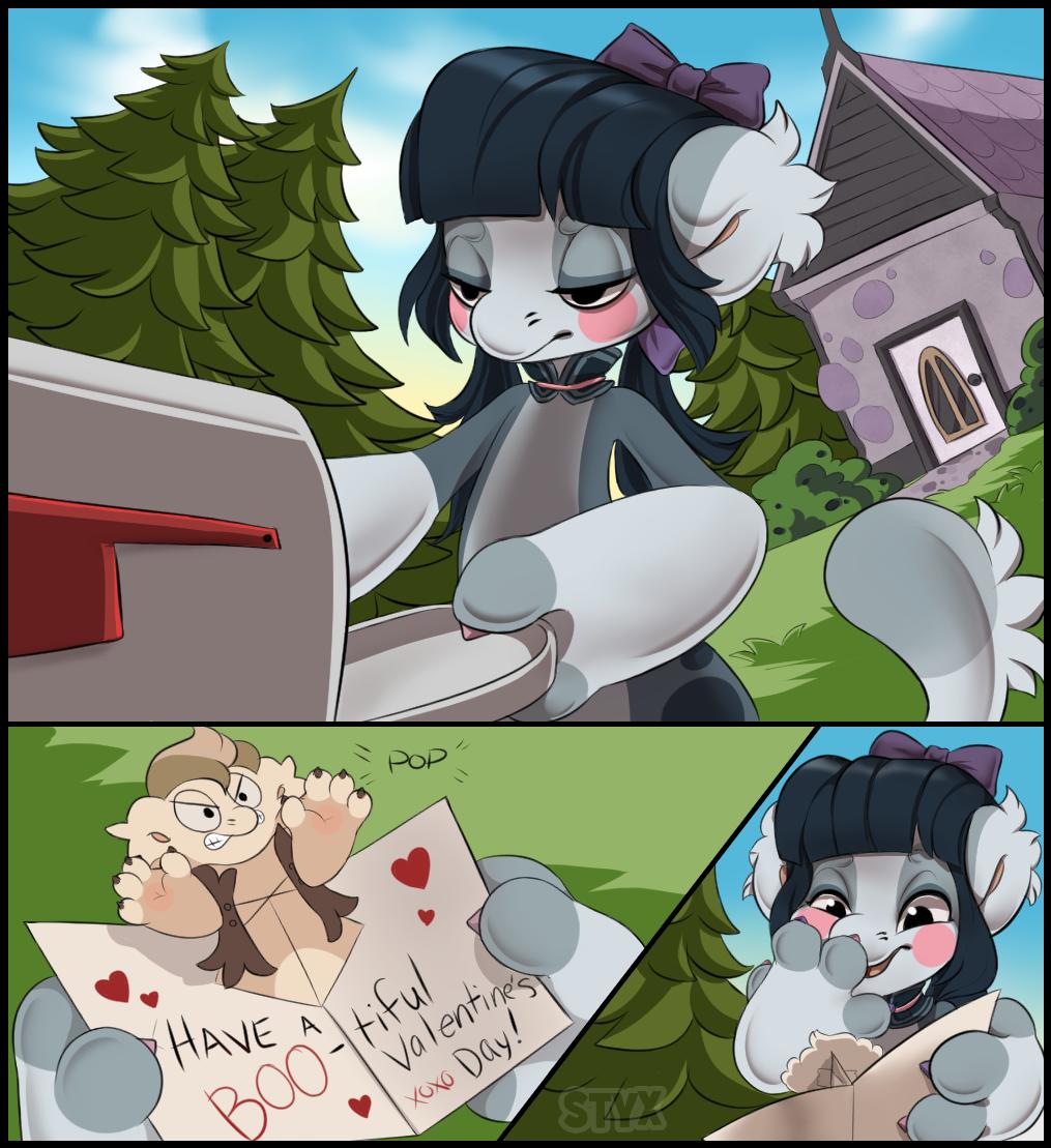 [ARPG] Bagbean Prompt - Valentine's Card by StyxLady