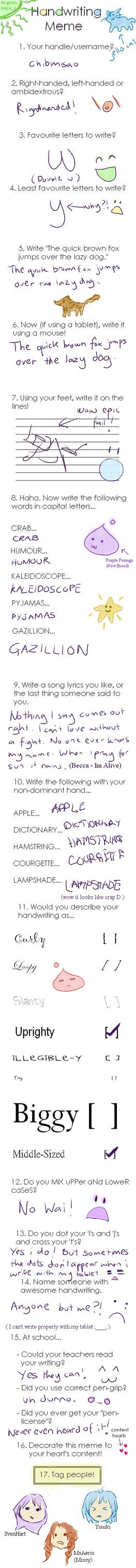 Handwriting MeMe: Misao