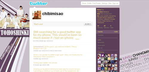 Twitter Layout - Purple Line