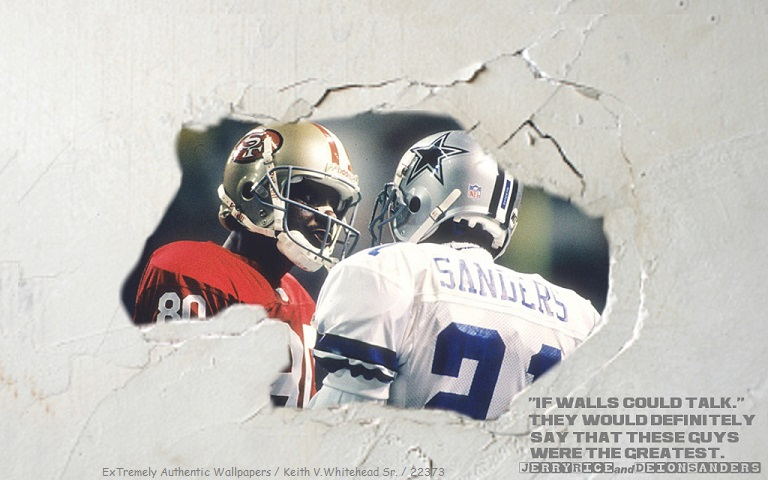 Deion Sanders And Jerry Rice 49ers