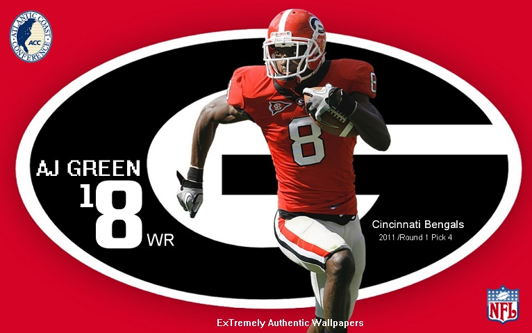 AJ Green Georgia Bulldogs Cincinnati Bengals By Keiffer Boy