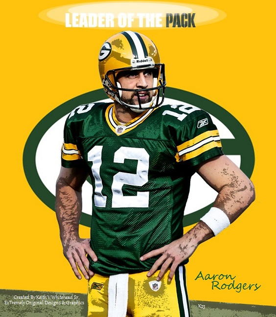 Aaron Rodgers Green Bay Packers By Keiffer Boy