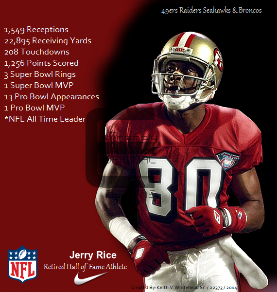 jerry rice 49ers nfl hall of fame retired athlete by