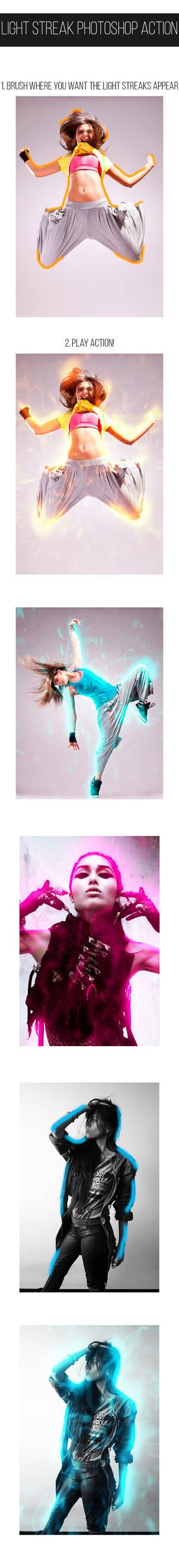 Light Streak Photoshop Action